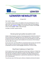 Uzwater Newsletter August 2015 (in English)