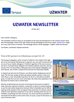 Uzwater Newsletter May 2015 (in English)