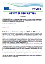 Uzwater Newsletter November 2014 (in English)